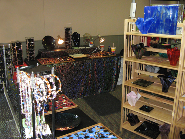 Inspiration Glass has a display at many mid-Valley events